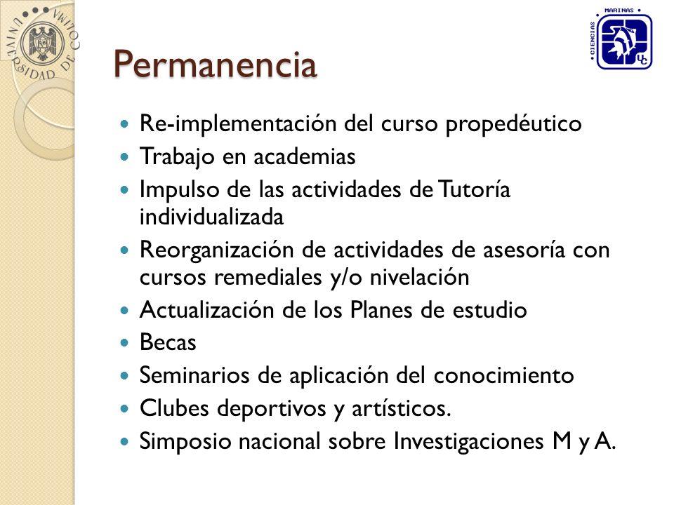 Permanencia Re-implementación del curso propedéutico