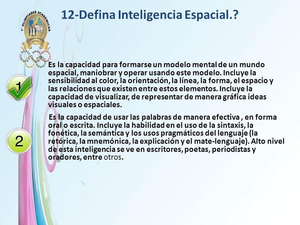 12-Defina Inteligencia Espacial.
