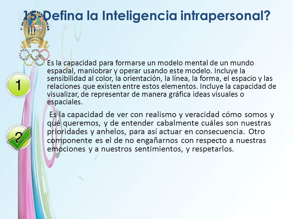 15-Defina la Inteligencia intrapersonal