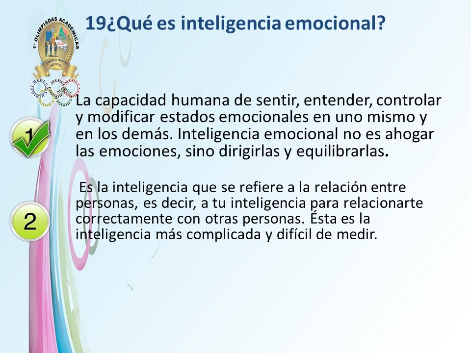 19¿Qué es inteligencia emocional