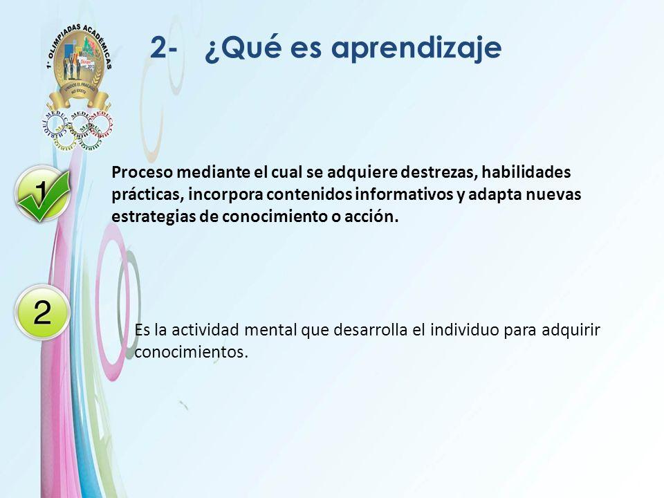 2- ¿Qué es aprendizaje