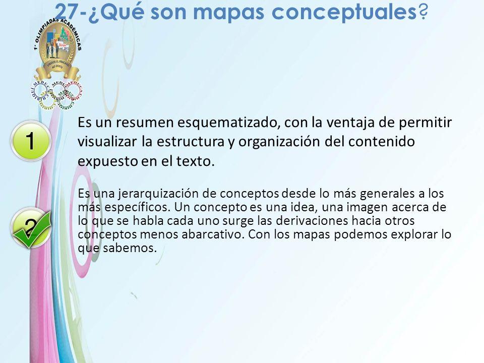 27-¿Qué son mapas conceptuales