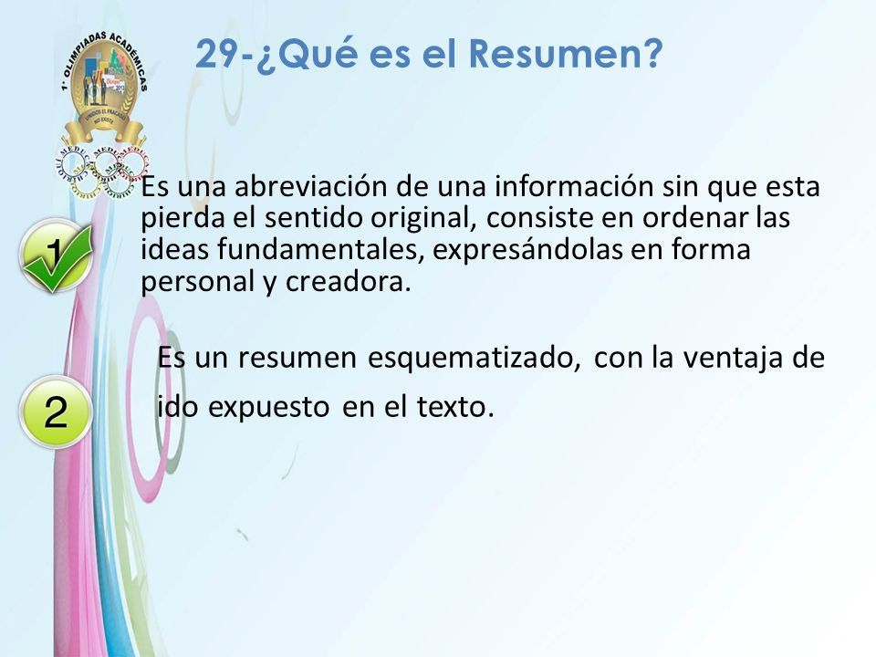 29-¿Qué es el Resumen