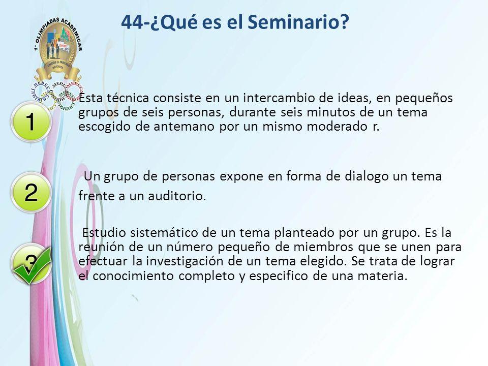 44-¿Qué es el Seminario
