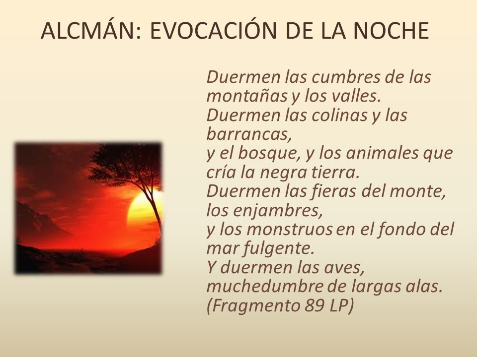 ALCMÁN: EVOCACIÓN DE LA NOCHE