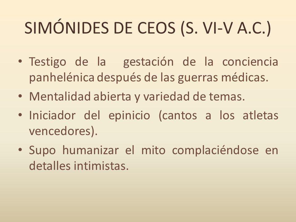 SIMÓNIDES DE CEOS (S. VI-V A.C.)