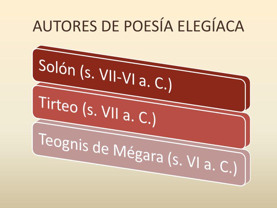 AUTORES DE POESÍA ELEGÍACA