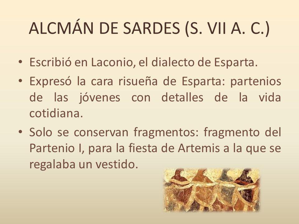 ALCMÁN DE SARDES (S. VII A. C.)