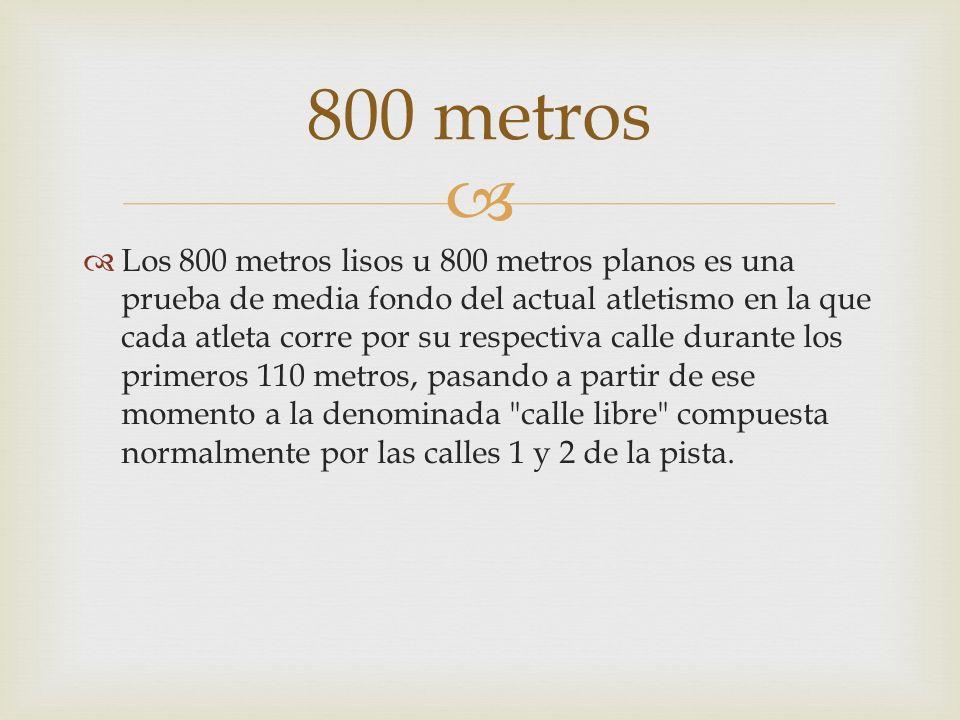 800 metros
