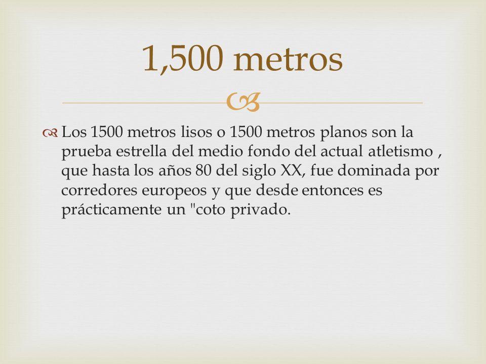 1,500 metros