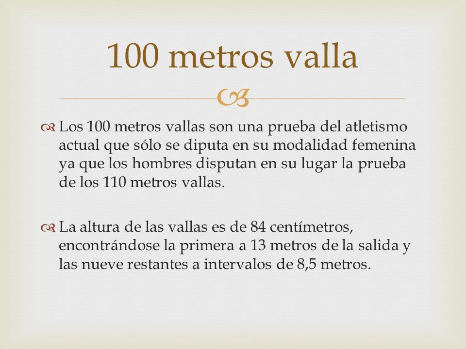 100 metros valla
