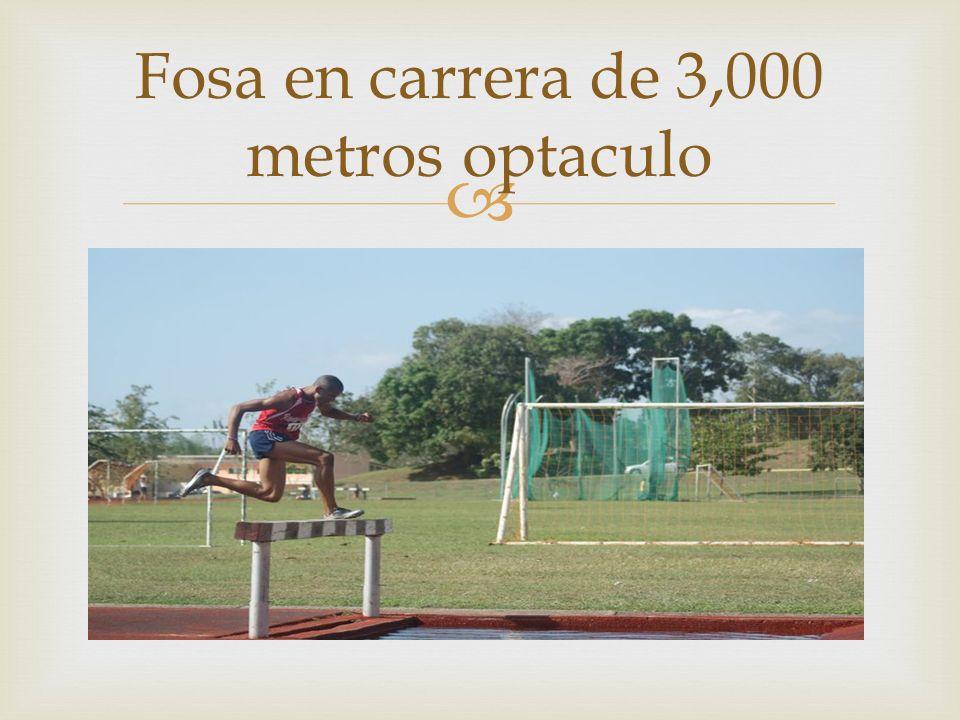 Fosa en carrera de 3,000 metros optaculo