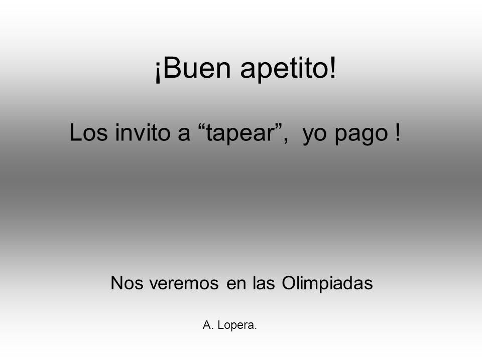 Nos veremos en las Olimpiadas