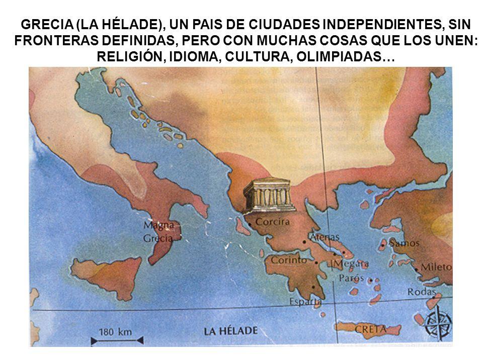 GRECIA (LA HÉLADE), UN PAIS DE CIUDADES INDEPENDIENTES, SIN