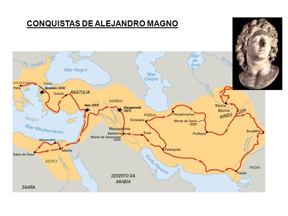 CONQUISTAS DE ALEJANDRO MAGNO