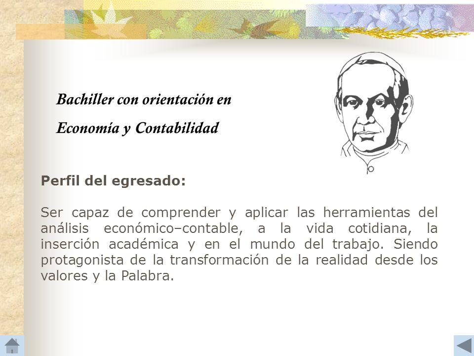 Bachiller con orientación en Economía y Contabilidad