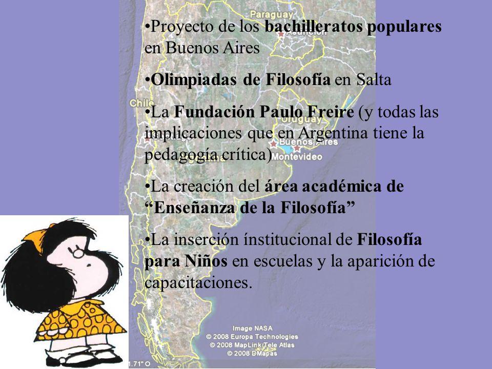 Proyecto de los bachilleratos populares en Buenos Aires