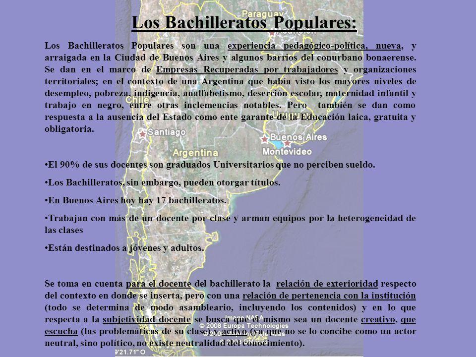 Los Bachilleratos Populares: