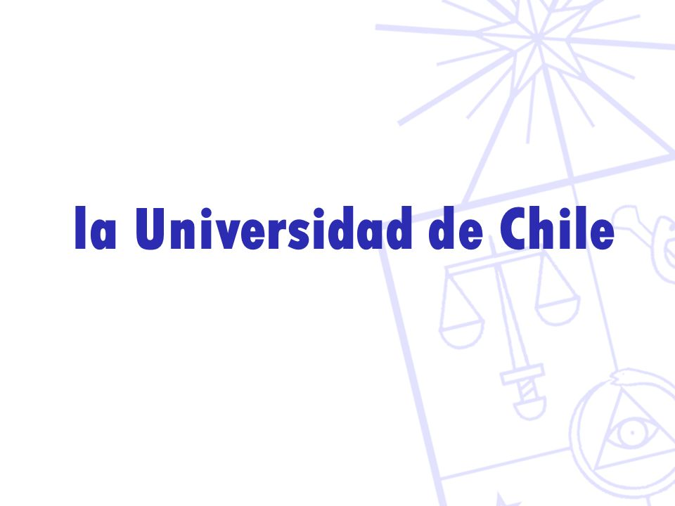 la Universidad de Chile