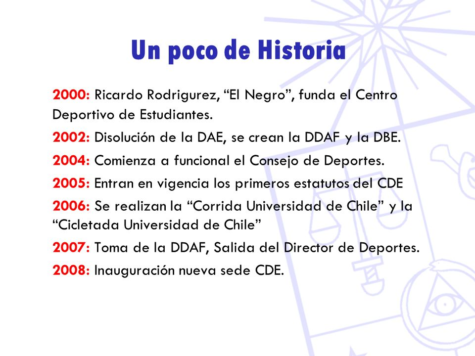 Un poco de Historia 2000: Ricardo Rodrigurez, El Negro , funda el Centro Deportivo de Estudiantes.