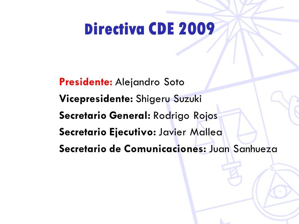 Directiva CDE 2009 Presidente: Alejandro Soto