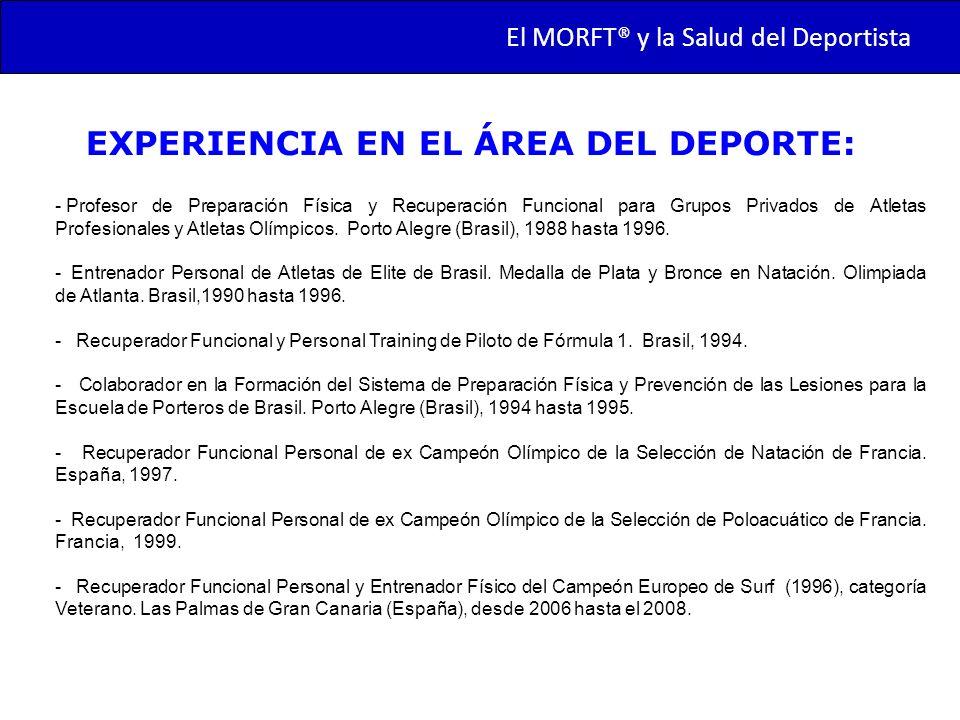 EXPERIENCIA EN EL ÁREA DEL DEPORTE: