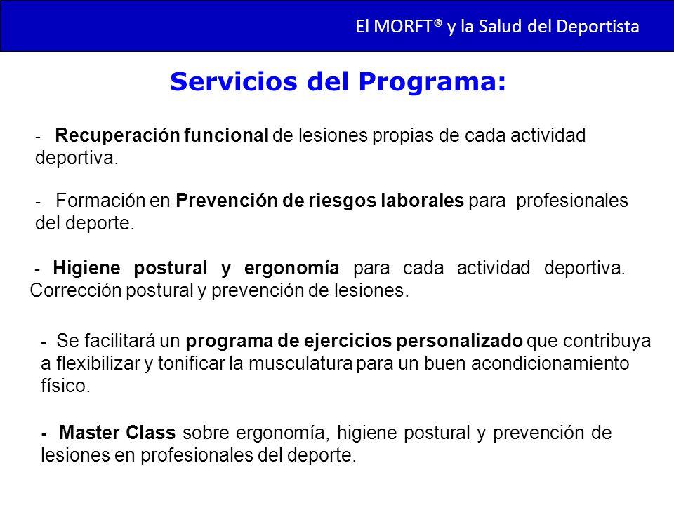 Servicios del Programa: