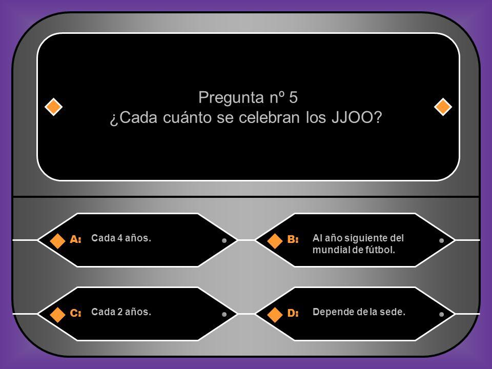 ¿Cada cuánto se celebran los JJOO