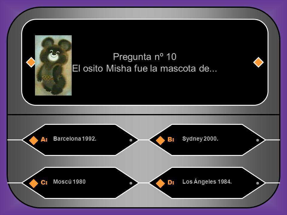 El osito Misha fue la mascota de...