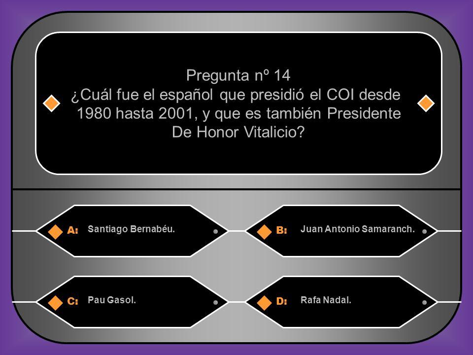 ¿Cuál fue el español que presidió el COI desde