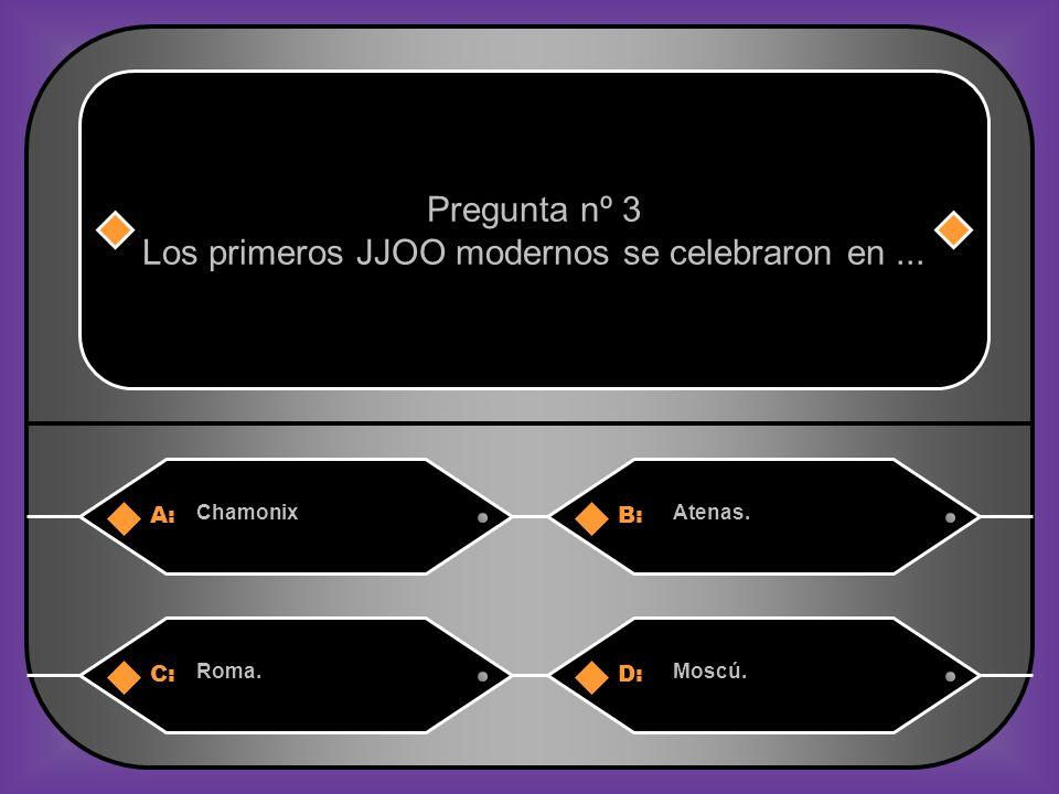 Los primeros JJOO modernos se celebraron en ...
