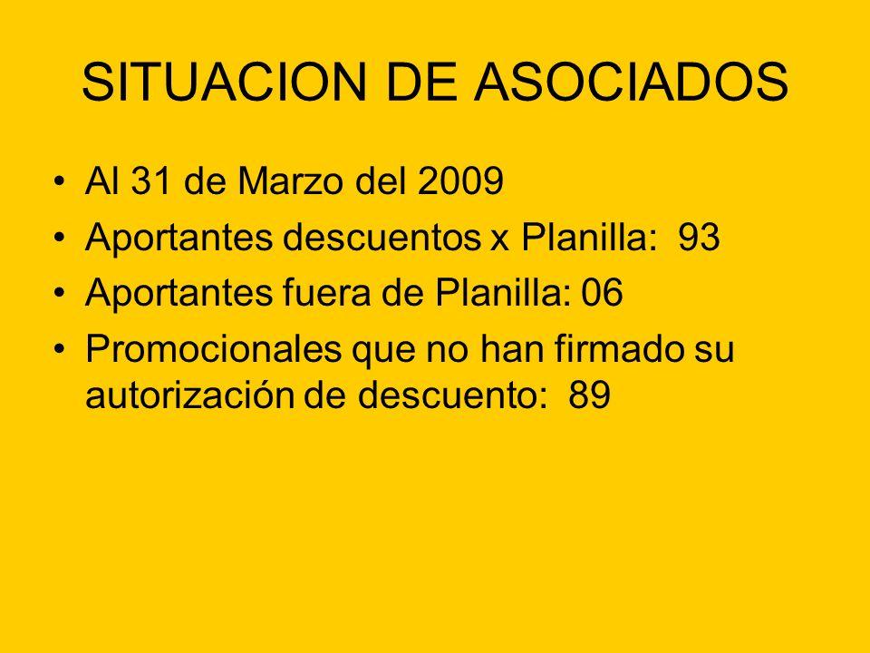 SITUACION DE ASOCIADOS