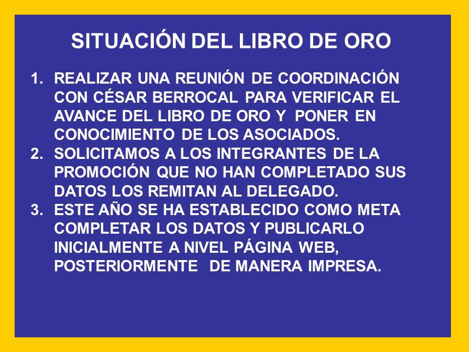 SITUACIÓN DEL LIBRO DE ORO