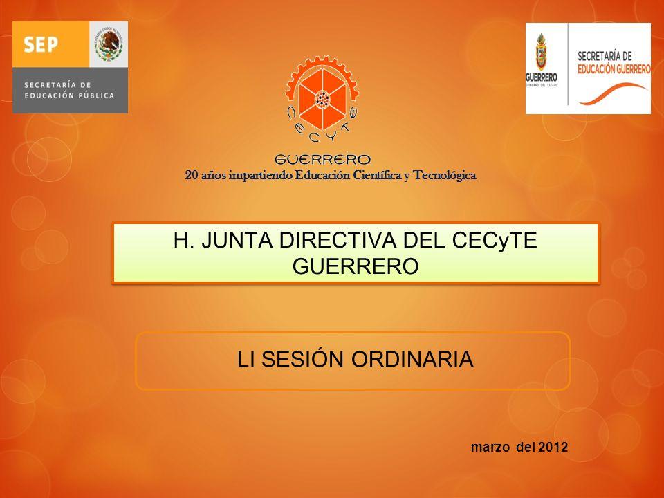 H. JUNTA DIRECTIVA DEL CECyTE GUERRERO