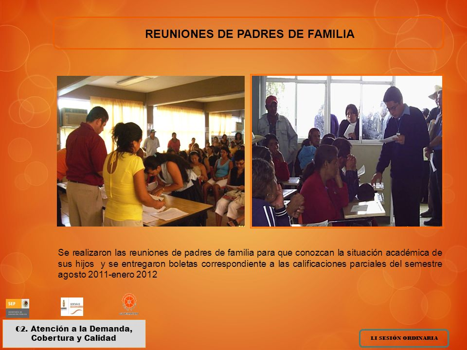 REUNIONES DE PADRES DE FAMILIA