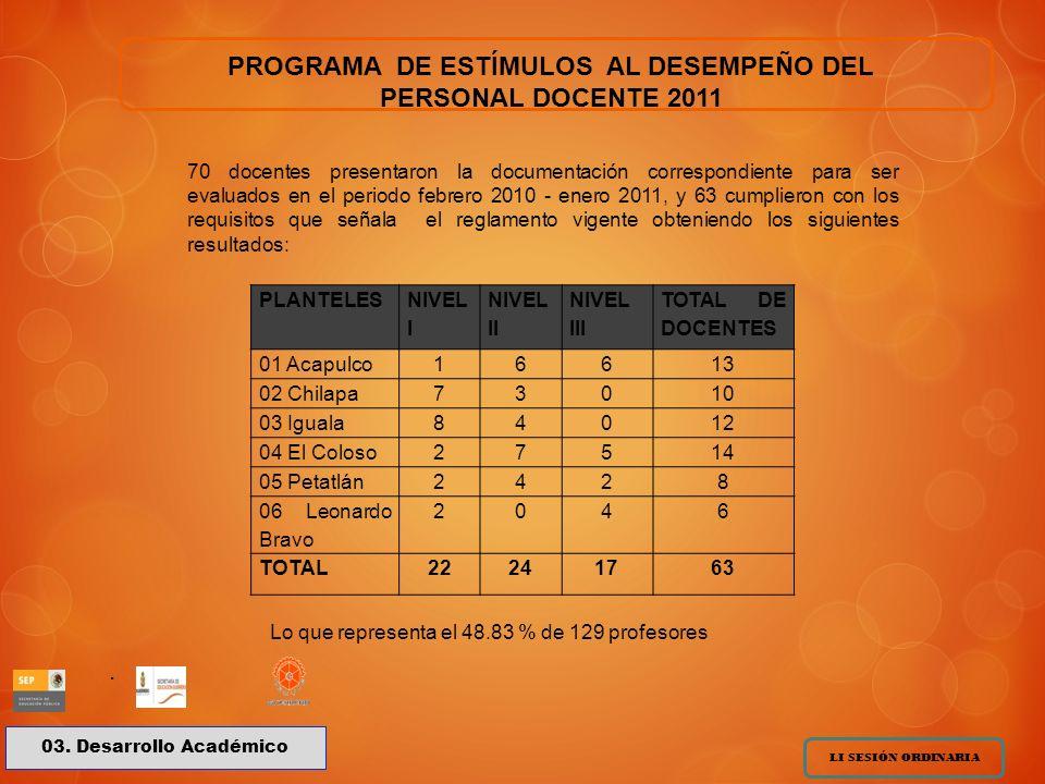 PROGRAMA DE ESTÍMULOS AL DESEMPEÑO DEL