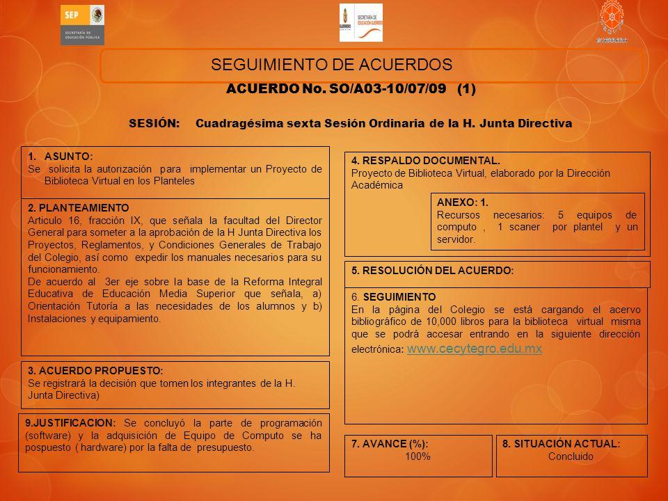 SESIÓN: Cuadragésima sexta Sesión Ordinaria de la H. Junta Directiva