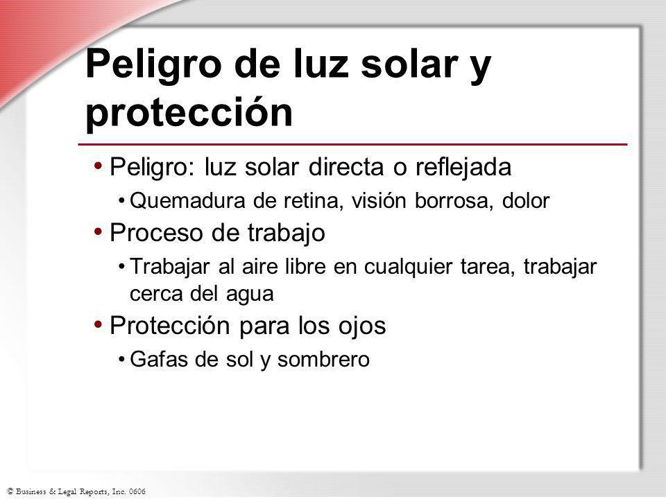 Peligro de luz solar y protección