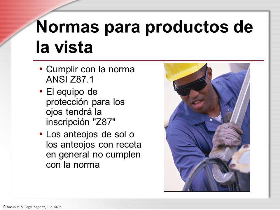 Normas para productos de la vista