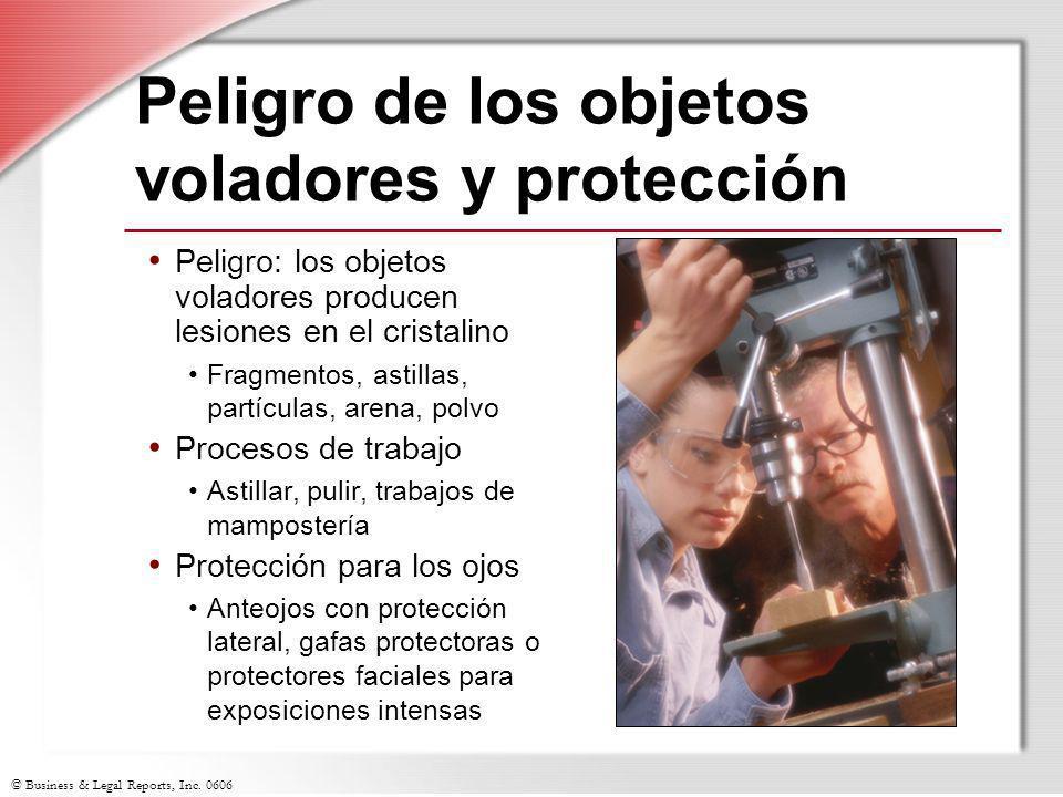 Peligro de los objetos voladores y protección