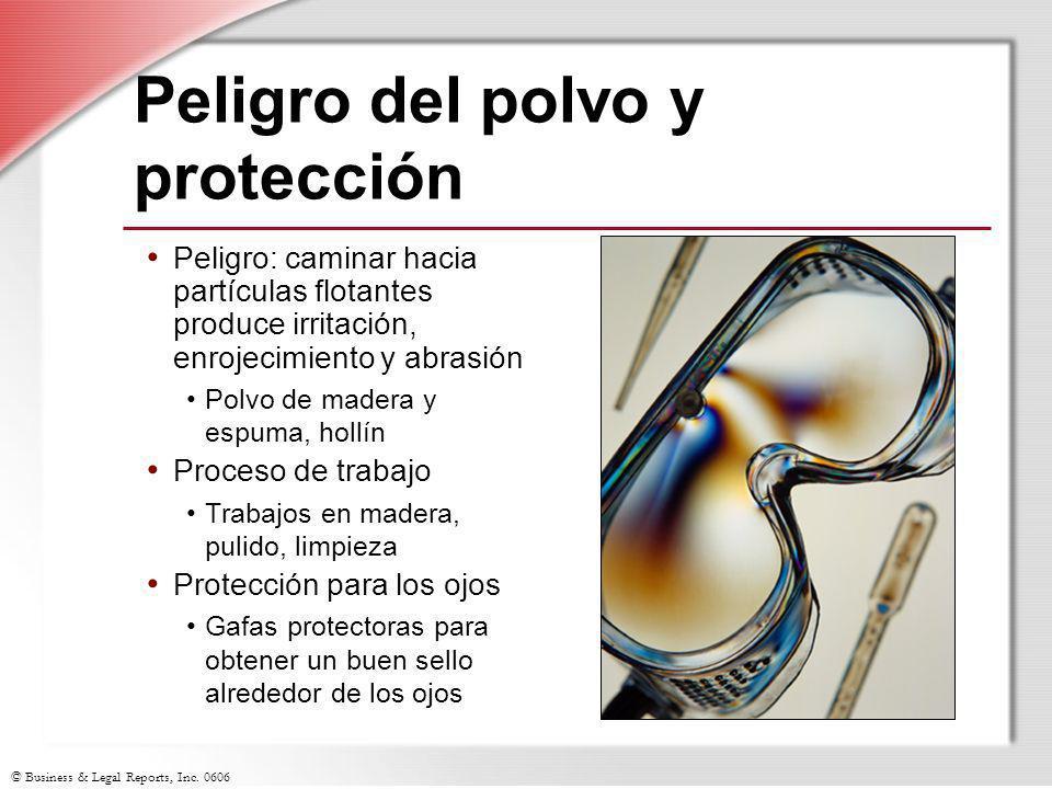 Peligro del polvo y protección