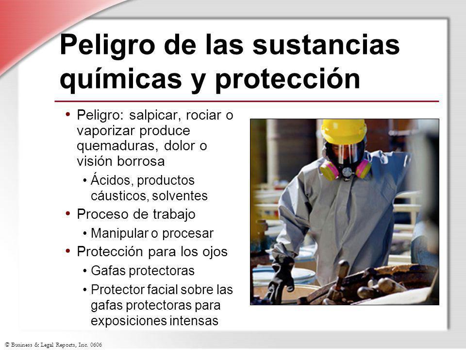Peligro de las sustancias químicas y protección