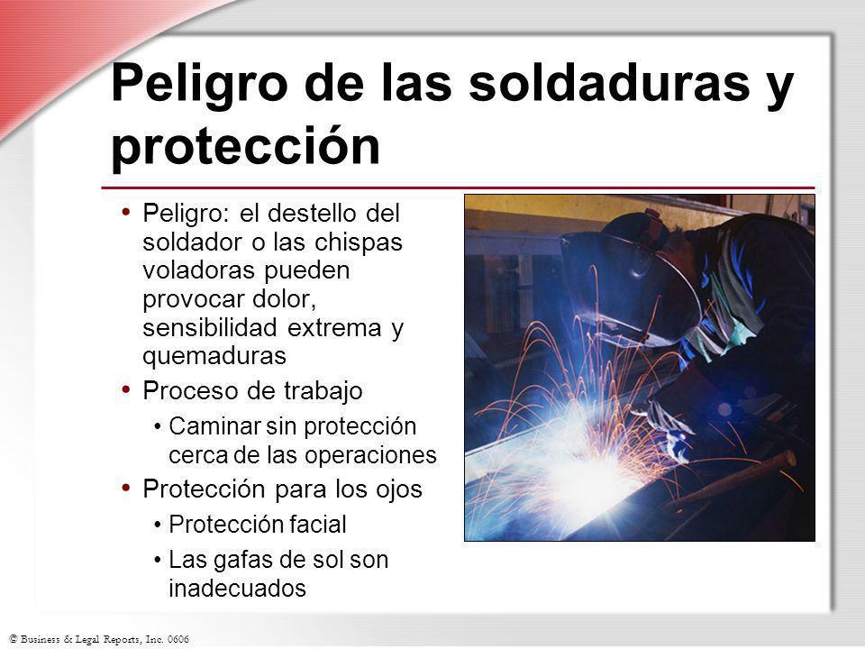 Peligro de las soldaduras y protección