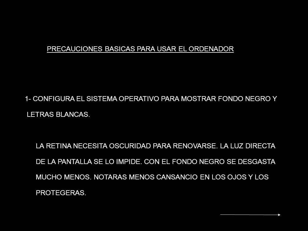 PRECAUCIONES BASICAS PARA USAR EL ORDENADOR
