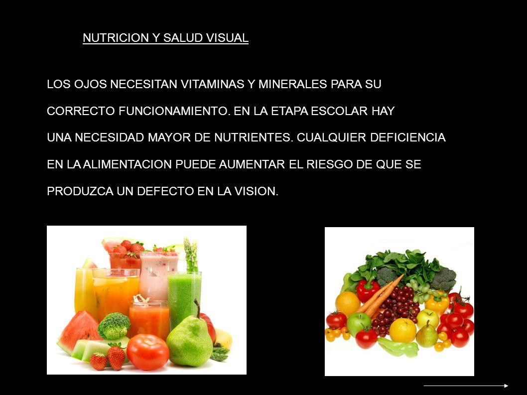 NUTRICION Y SALUD VISUAL
