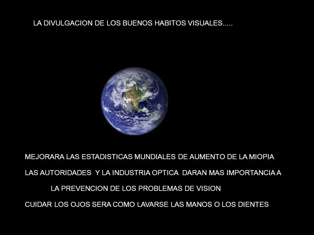 LA DIVULGACION DE LOS BUENOS HABITOS VISUALES.....