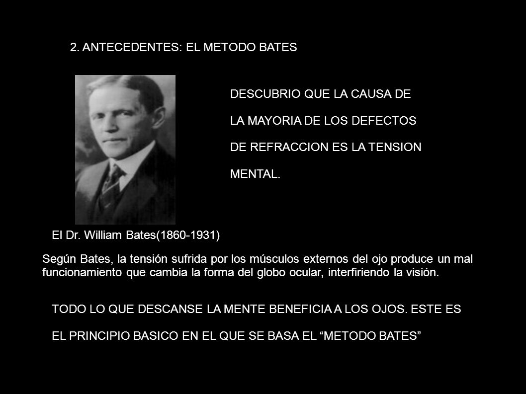 2. ANTECEDENTES: EL METODO BATES