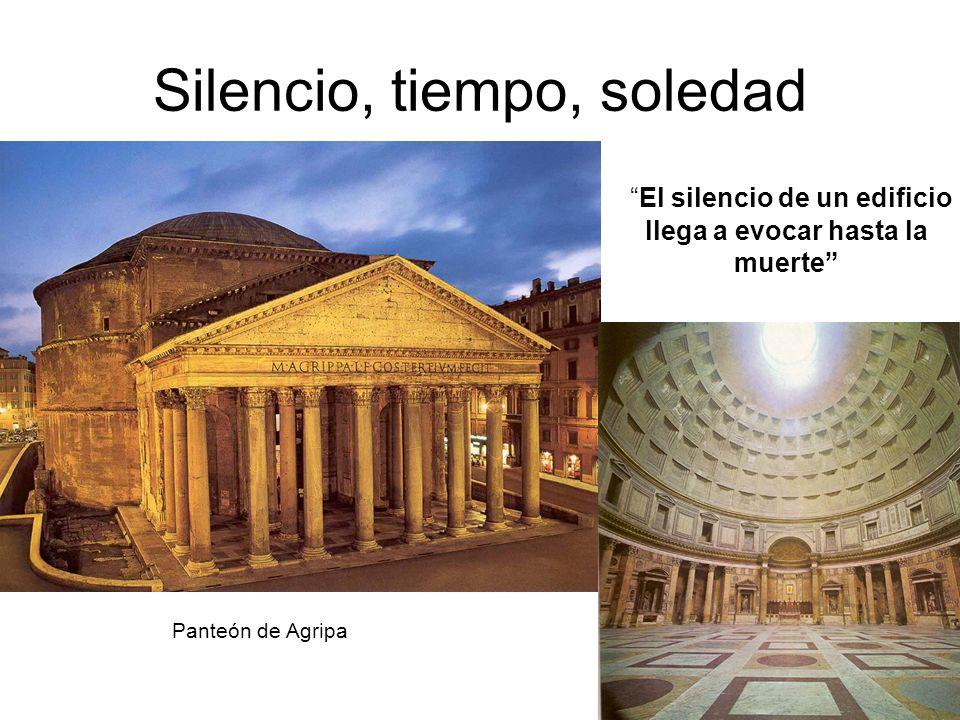 Silencio, tiempo, soledad