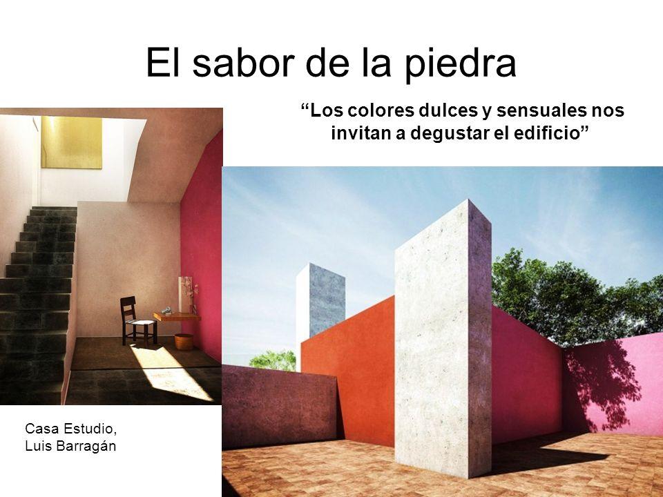 Los colores dulces y sensuales nos invitan a degustar el edificio