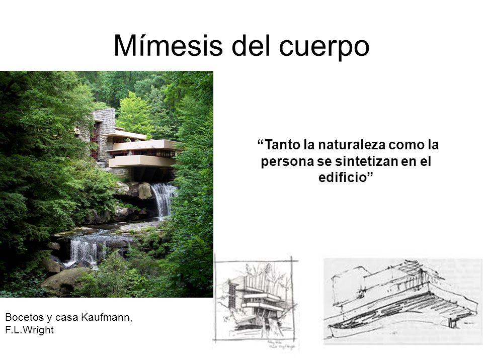 Tanto la naturaleza como la persona se sintetizan en el edificio
